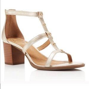 Jack Rogers Julia Metallic Studded Heel Sandals